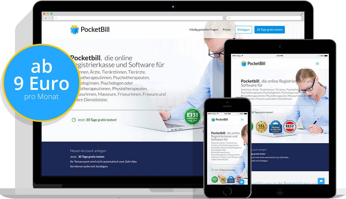 Pocketbill Registrierkasse Kleinunternehmer